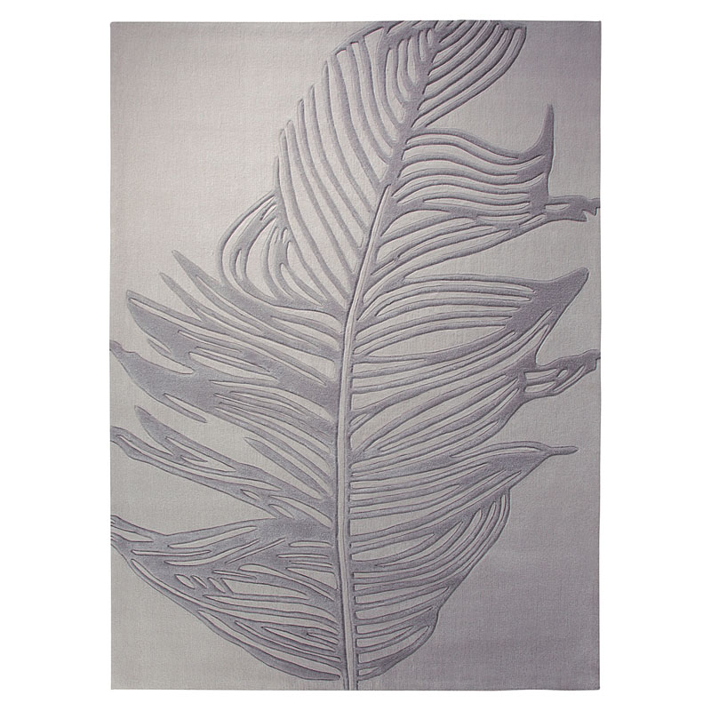 tapis moderne feather gris esprit home