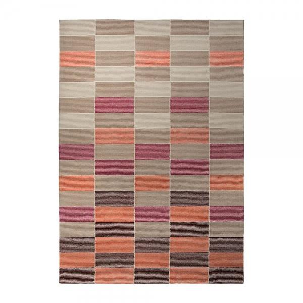 tapis moderne fida orange esprit home