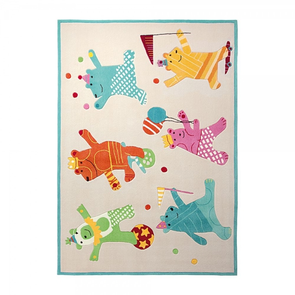 tapis enfant esprit home dancing bears