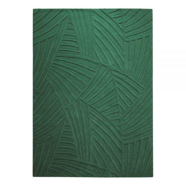 tapis moderne esprit vert palmia