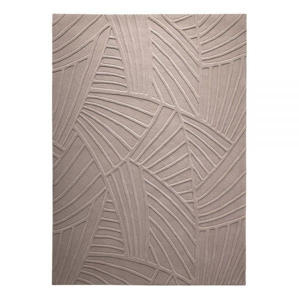 tapis moderne esprit beige palmia