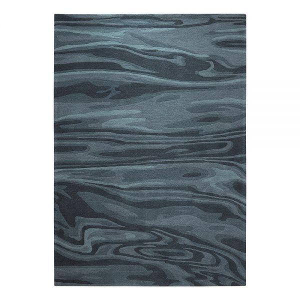 tapis deep water moderne bleu esprit
