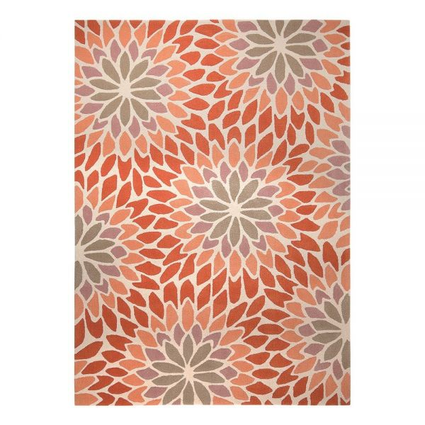tapis esprit orange lotus moderne