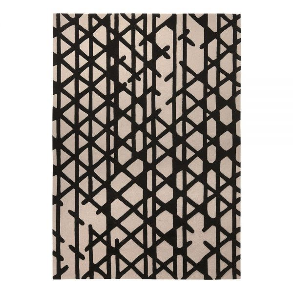 tapis moderne esprit noir et blanc artisan pop