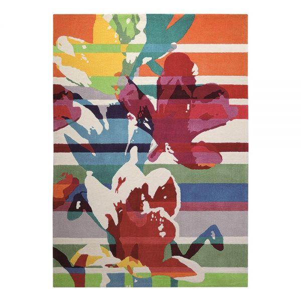 tapis moderne esprit multicolore floria