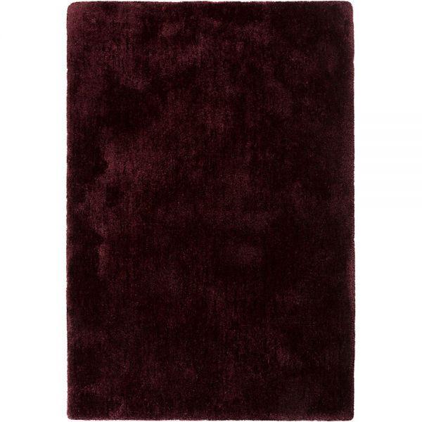 tapis relaxx shaggy bordeaux esprit