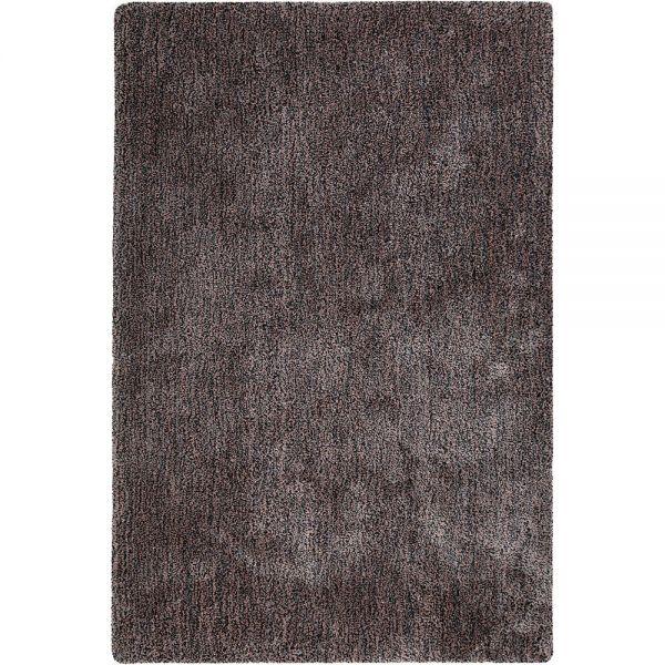 tapis relaxx shaggy marron et rose esprit