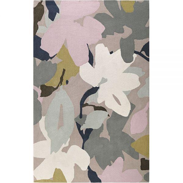tapis esprit moderne taupe bloom
