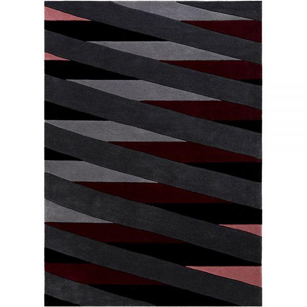 tapis moderne lamella rose et taupe esprit