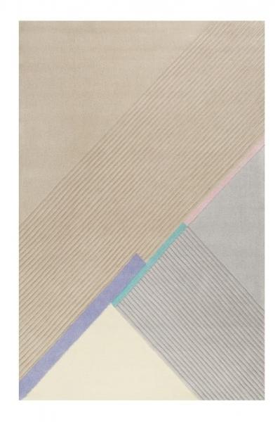 tapis xaz cool noon / summer beige et gris esprit