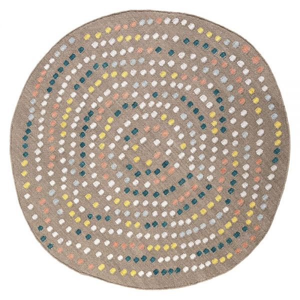 tapis rond moderne sable opus esprit
