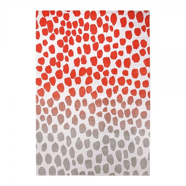 tapis snugs esprit home moderne orange