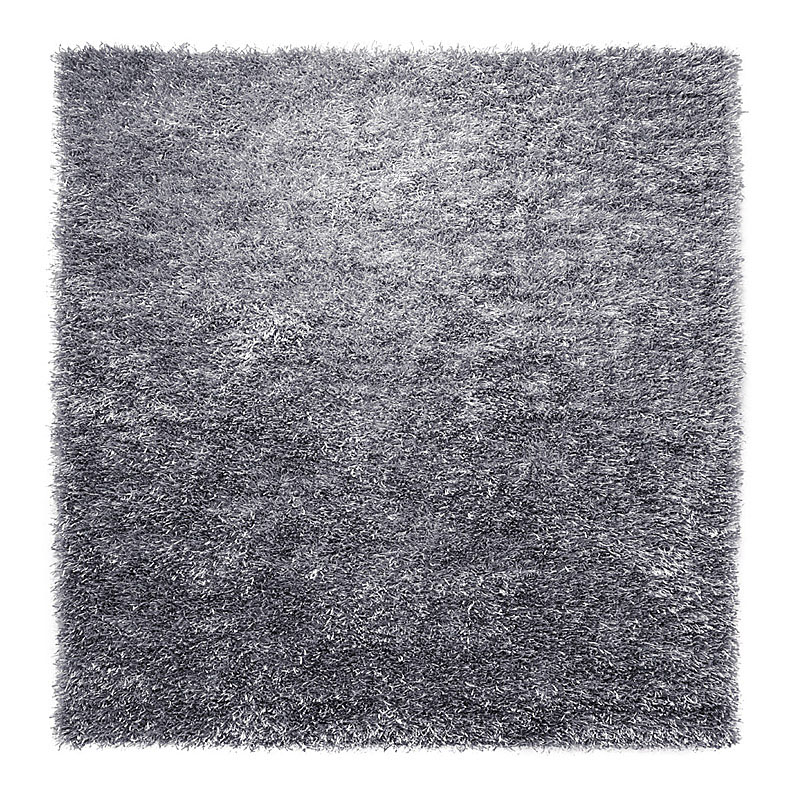 tapis cool glamour gris esprit home shaggy 200x200. Black Bedroom Furniture Sets. Home Design Ideas