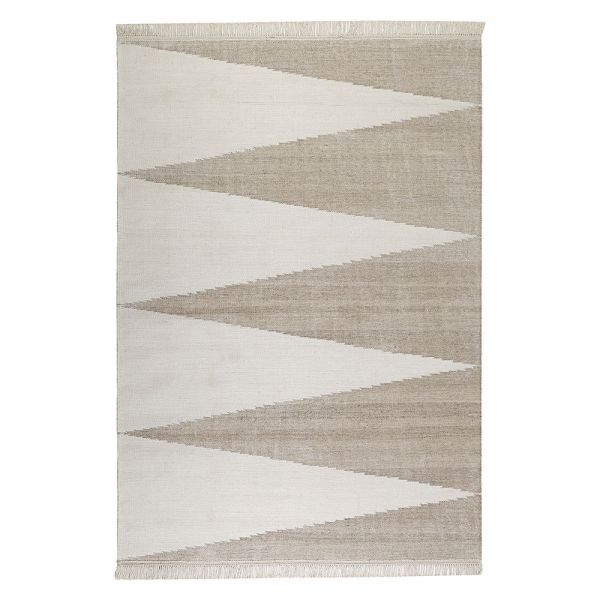 tapis carpets & co. moderne smart triangle beige et blanc