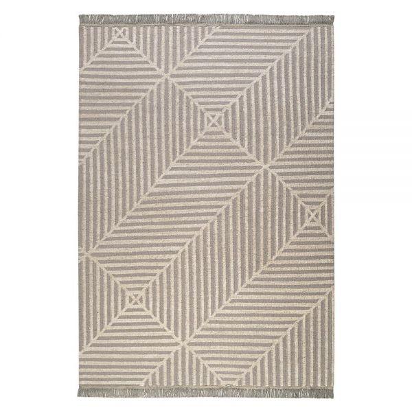 tapis carpets & co. moderne irregular fields taupe et blanc