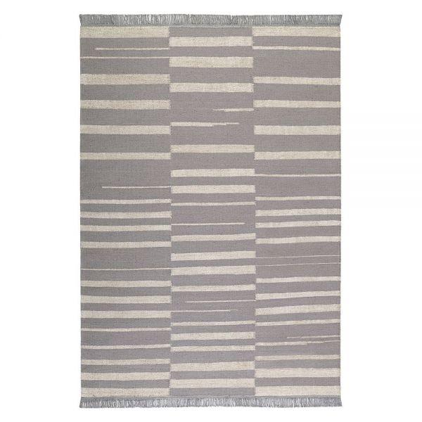 tapis carpets & co. moderne skid marks gris et blanc