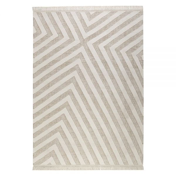 tapis beige et blanc moderne edgy corners carpets co 160x230. Black Bedroom Furniture Sets. Home Design Ideas