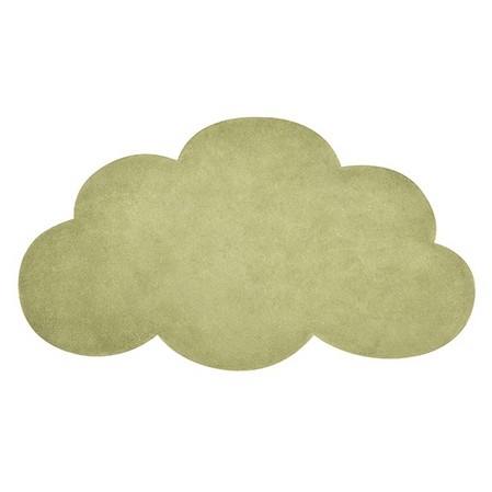 tapis enfant nuage palm green lilipinso