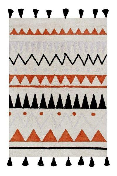 tapis enfant azteca natural - terracota lorena canals 140x200cm