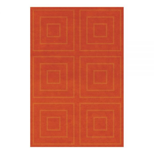 tapis moderne orange jules wabbes angelo
