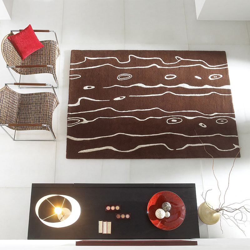 tapis neleafi marron - carving