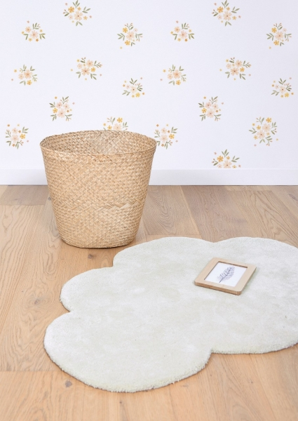 tapis enfant nuage moonbeam beige lilipinso