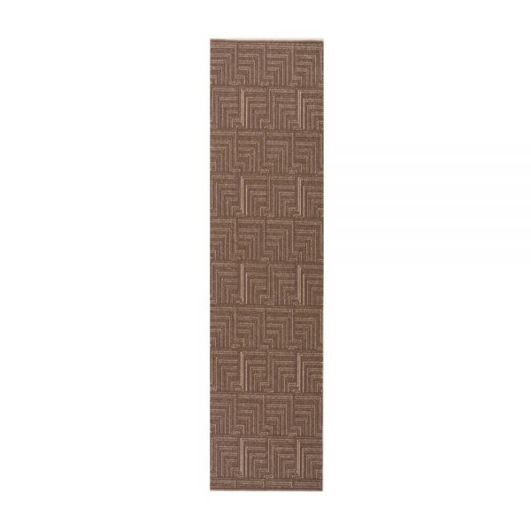 tapis de couloir marron foncé pinnacle flair rugs