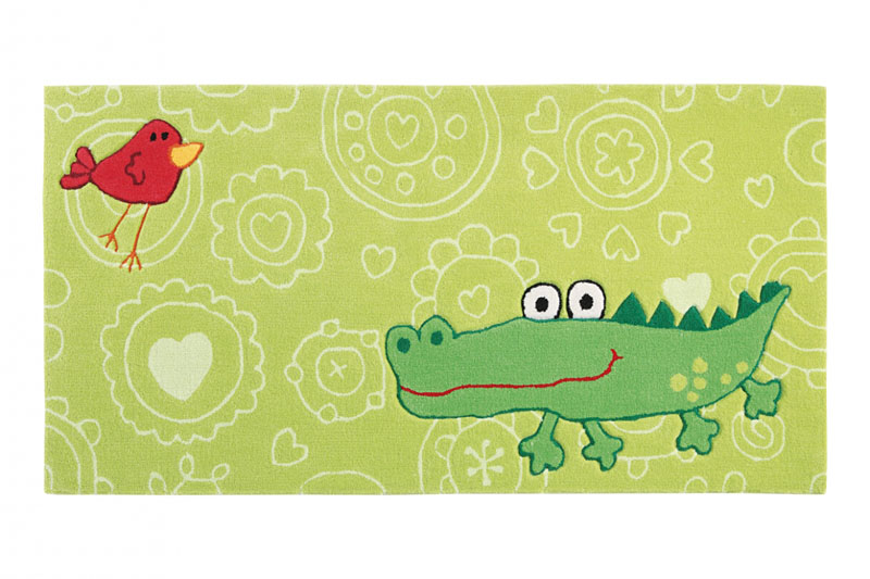tapis enfant vert sigikid happy zoo crocodile 90x160. Black Bedroom Furniture Sets. Home Design Ideas