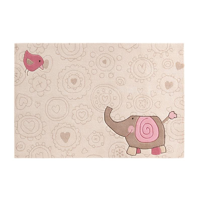 tapis enfant beige happy zoo elephant sigikid