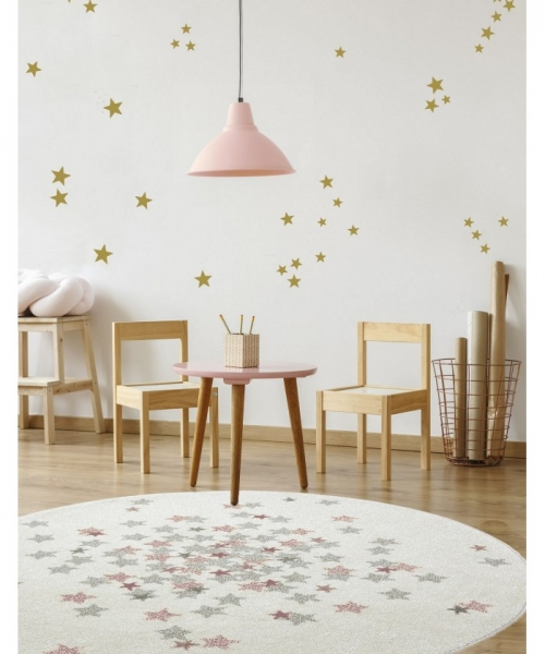 tapis enfant rond nova rose - art for kids