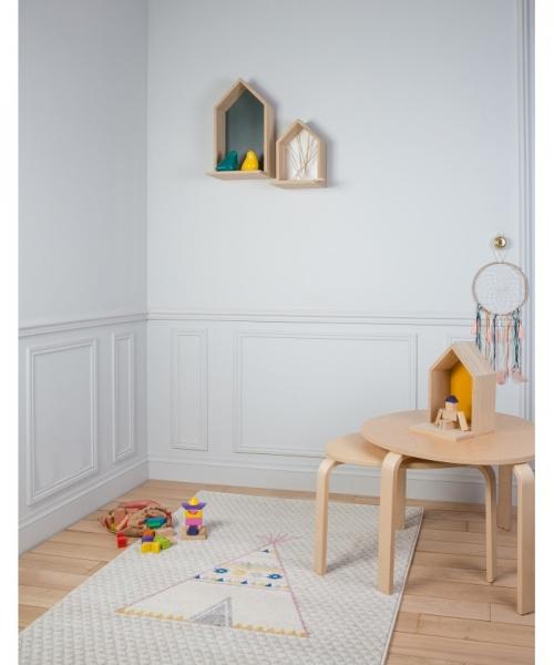 tapis enfant tipi gris - art for kids
