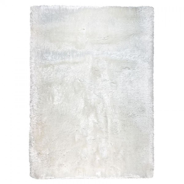 tapis shaggy adore blanc - ligne pure