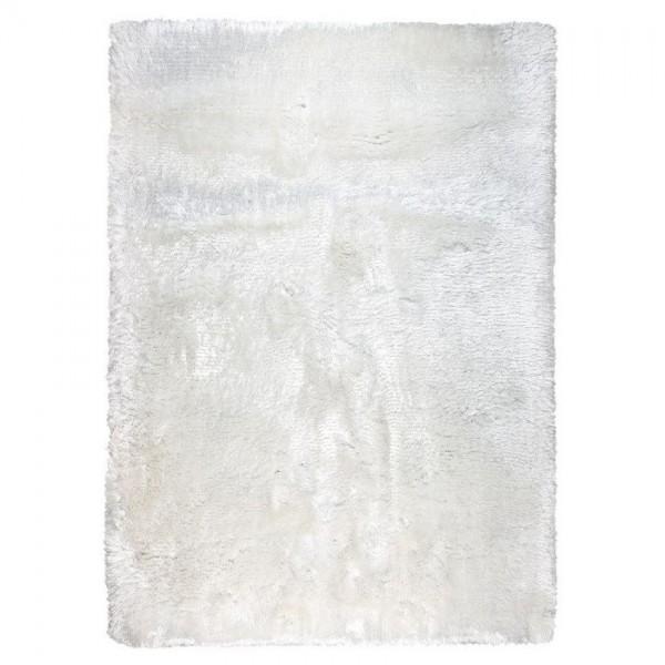 tapis ligne pure tissé main shaggy blanc adore