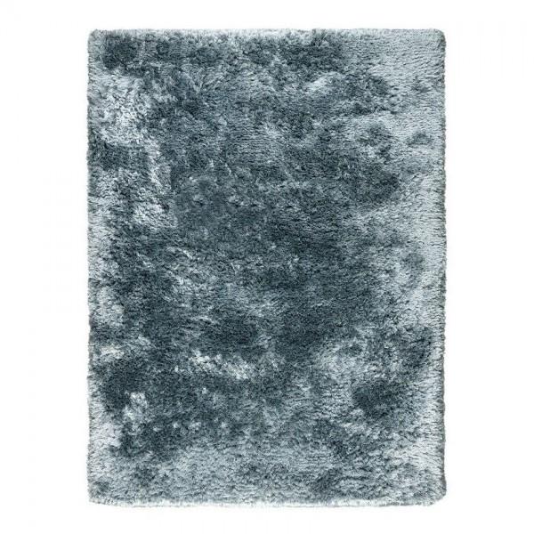 tapis shaggy adore ligne pure tissé main bleu