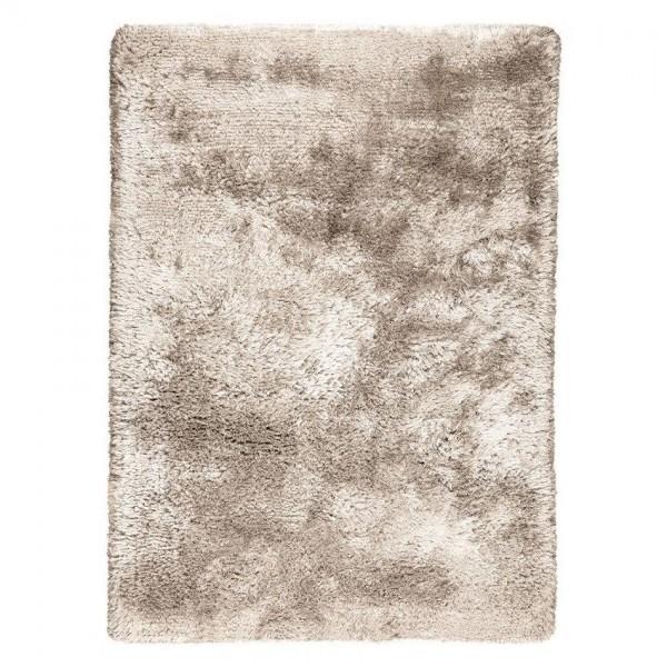 tapis shaggy adore tissé main ligne pure beige