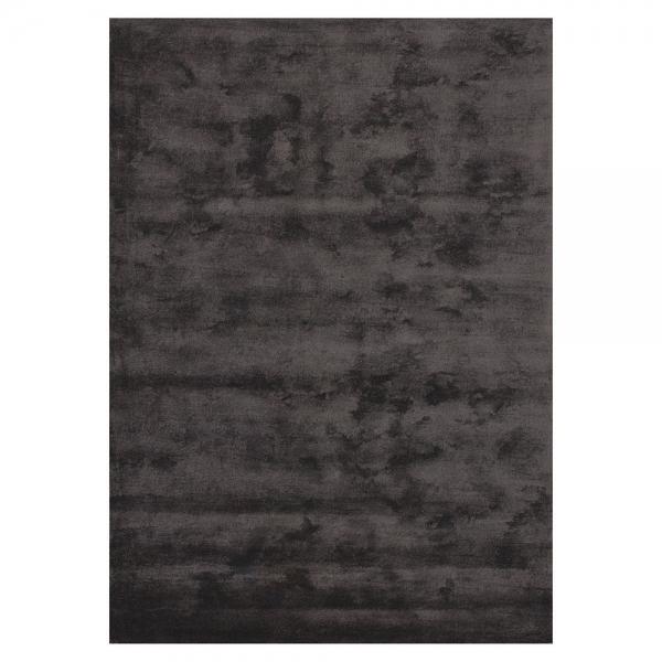 tapis bamboo fibres de bambou anthracite - angelo