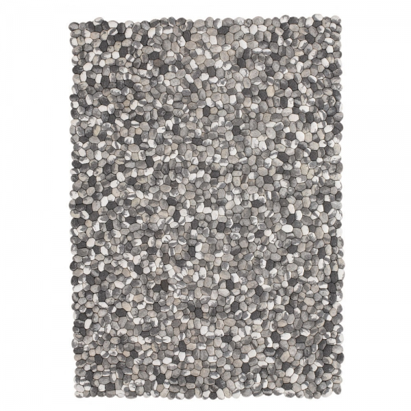 tapis on the rocks en laine gris angelo