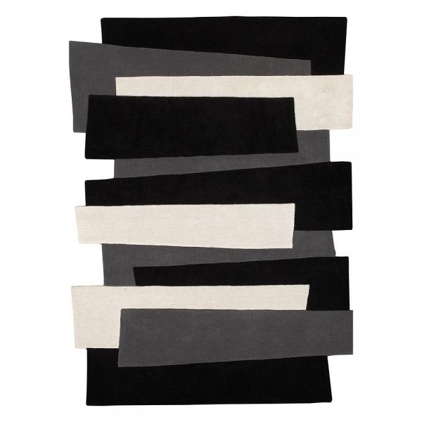 tapis noir et blanc angelo design pebbles