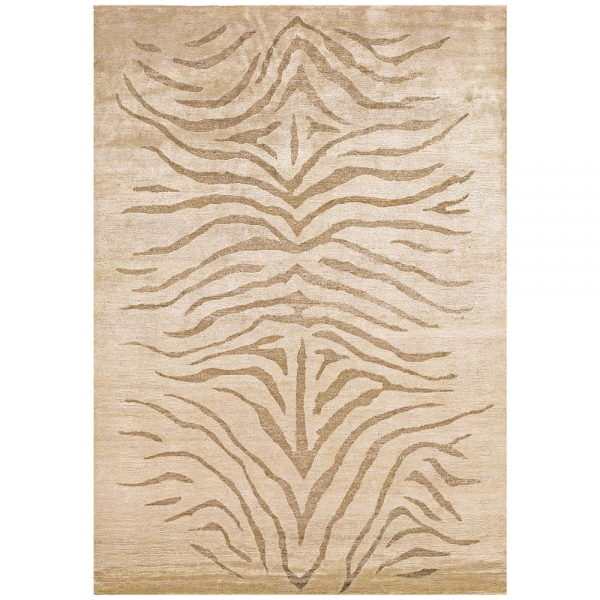 tapis beige motif havane silky angelo