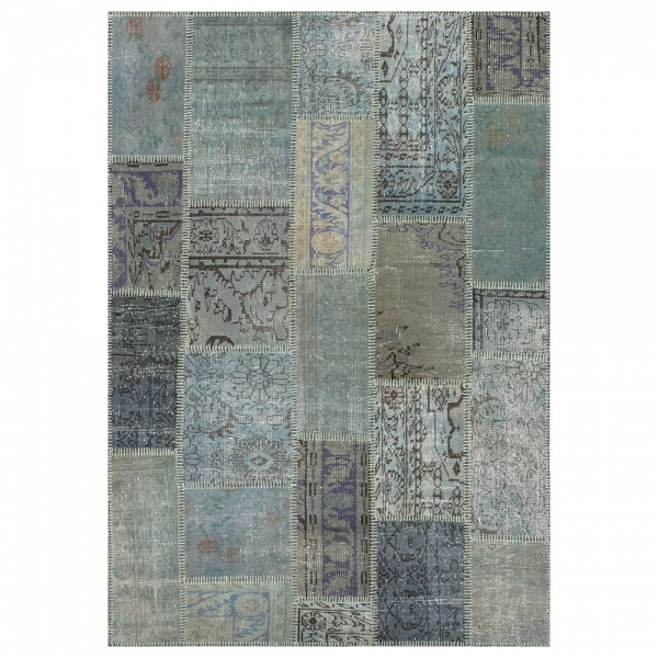 tapis up-cycle bleu - angelo