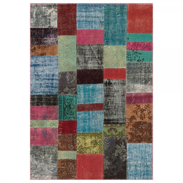 tapis de couloir up-cycle multicolore angelo