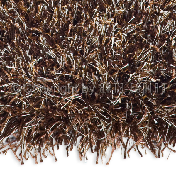 tapis shaggy beat marron chiné arte espina