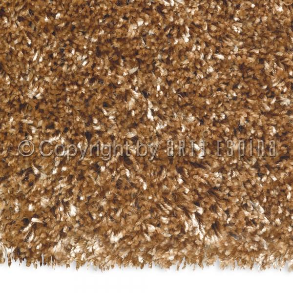 tapis shaggy rond soul beige fonc arte espina 200x200. Black Bedroom Furniture Sets. Home Design Ideas