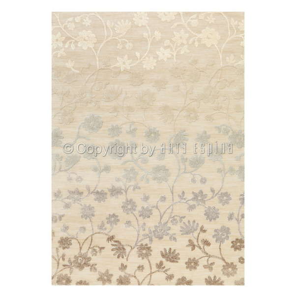 tapis couleur crème arte espina bloom tufté main