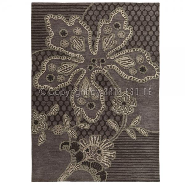 tapis floral finesse gris arte espina 120x180. Black Bedroom Furniture Sets. Home Design Ideas