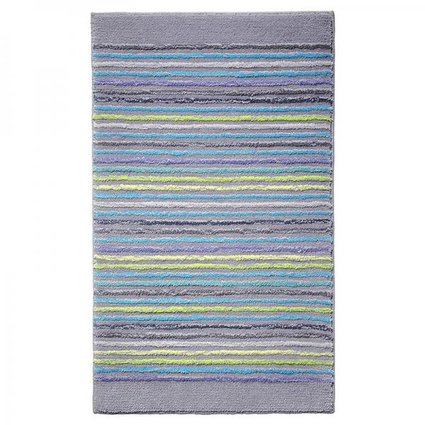 tapis de bain esprit home cool stripes gris