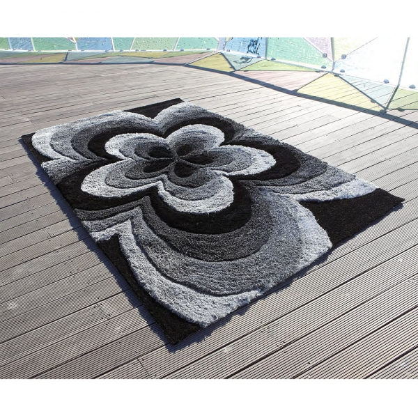 tapis 3d rose gris - carving