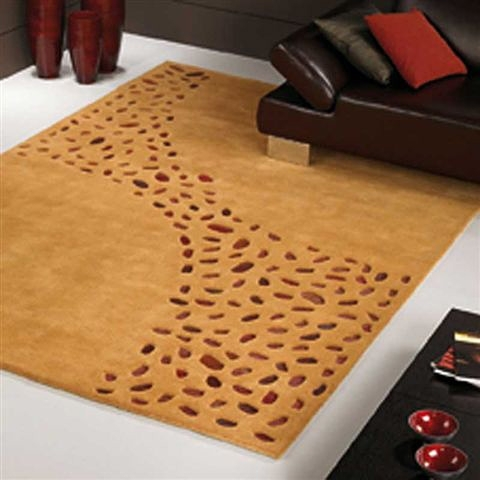 tapis loxton ocre - carving