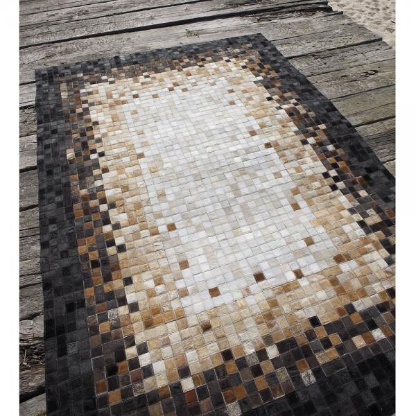 tapis carving quadra center en cuir