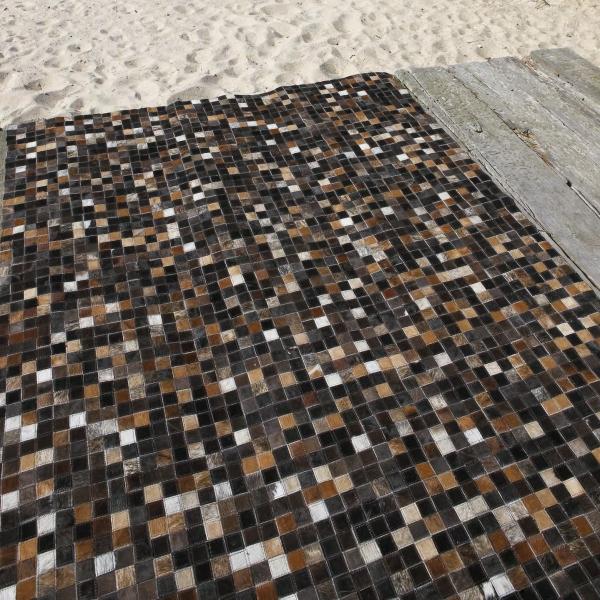 tapis en cuir quadra multi carving
